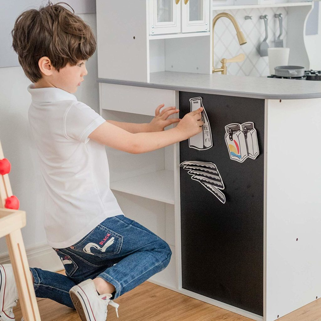 play kitchen chalkboard